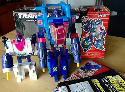 Transformers G1 AUTOBOT TURBOMASTERS HURRICANE AND ROTORSTORM BOXED MINT!