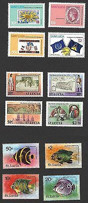 St Lucia 1979-81 MNH collection (78 stamps)