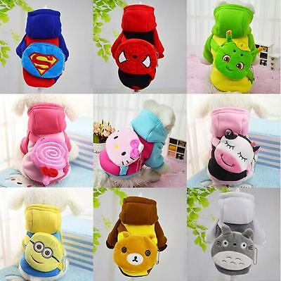 Pet Dog Clothes Coat Jacket Puppy Clothing Cat Costume Apparel Backpack Hoodies