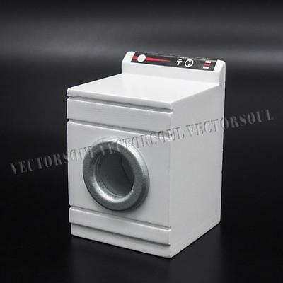 1/12 Dollhouse Wooden White Washing Machine Home Appliance Furniture Miniature