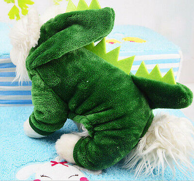 Fleece Dinosaur Pet Dog Clothes Coat Jacket Puppy Cat Costume Apparel Hoodies