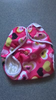 Nature Babies wrap - large - 20lbs+ - velcro - Pink Heart