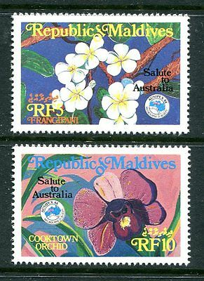 Maldive Islands 1984 Ausipex Exhibition, Orchids MNH