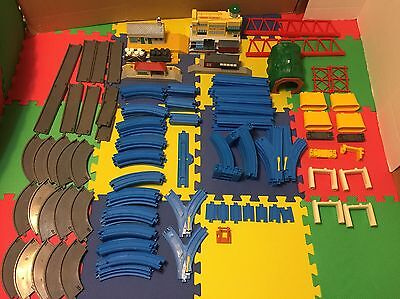 Thomas & Friends Huge Lot Of Blue & Grey TOMY Track And Accessories
