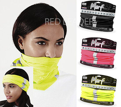 MORF Enhanced Viz Warm Winter Snood Running Ear Head Hat Balaclava Ski Mask B950