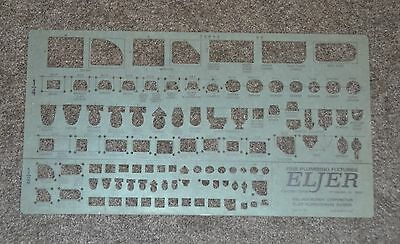 Vintage Eljer USA Fine Plumbing Fixtures Drafting Template Stencil Drawing