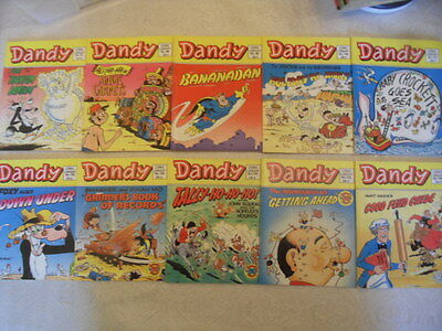 10 X Dandy Comic Library Books (1987) issues range between 97 & 106