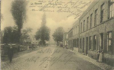 German WW1 Postcard, La Bassee France The Route De Lens 1915 Feldpost