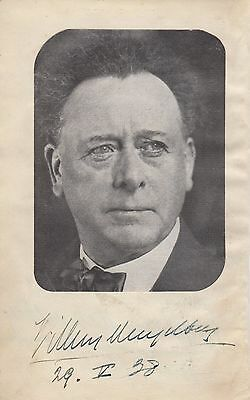 Willem Mengelberg Signed Dutch Conductor 1938 (Guila Bustabo, Mahler) Classical