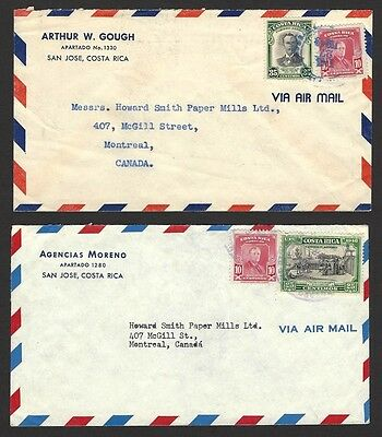 Costa Rica collection of covers to Canada, etc. mainly 1950s (27)