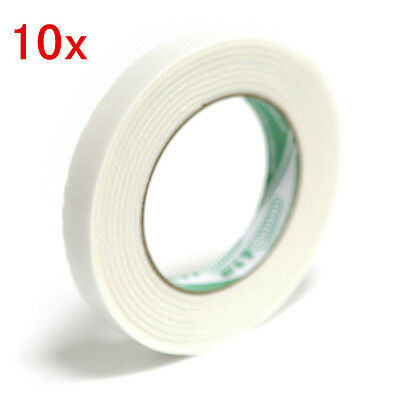 10pcs 3D Adhesive Auto Two Sided Foam Sticky Mounting Attachment Roll Tape 290mm