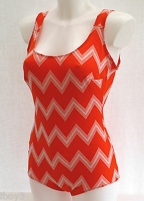 SUPERB 60's VINTAGE CLASSIC STYLE LADIES SWIMMING COSTUME SWIMSUIT 12 - 14 NEW