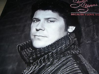 "Shakin' Stevens Because I Love You 12"" Vinyl Single 1986 Epic SHAKY T2"