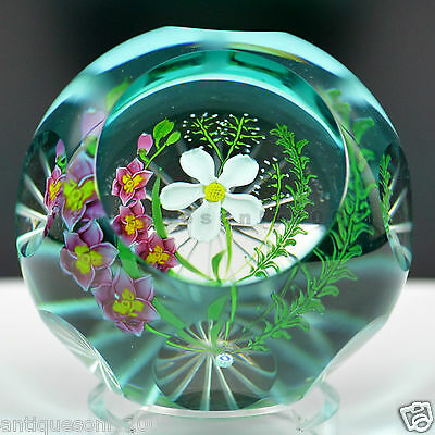 CAITHNESS WHITEFRIARS SUMMER FLOWERS Glass Paperweight by MARGOT THOMSON LIMITED