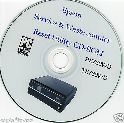 Epson Stylus Tx730Wd & Px730Wd Waste Ink Error Fault Reset Maintenance Fix Disc