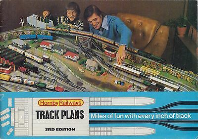 Hornby 00 Gauge Model Railways Track Plans Book 3Rd Edition ( 1975 )