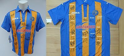 2011-12 Shrewsbury Town Home Shirt Signed by Promotion Winning Squad (9523)