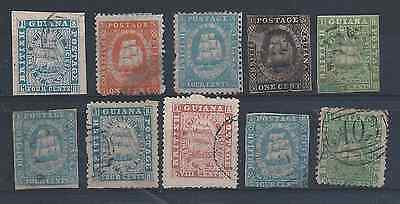British Guiana 1860-76 Ten Values All Thought To Be Forgeries/reprints/proofs