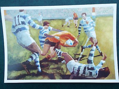 1991 Rugby World Cup. Colour postcard of painting by Gareth Lloyd Ball.