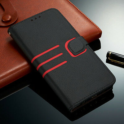 Luxury Vintage Magnetic Flip Cover Wallet Soft Leather Case For Samsung Galaxy