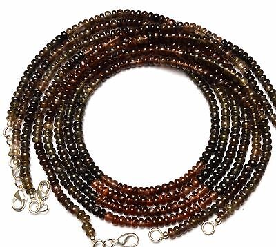 """Natural Multicolor Scapolite 4.5Mm Approx. Rondelle Beads Necklace 79Cts. 18"""""""