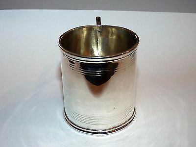 ANTIQUE GEORGIAN SOLID SILVER HALLMARKED MINI TANKARD / CHRISTENING CUP 86g