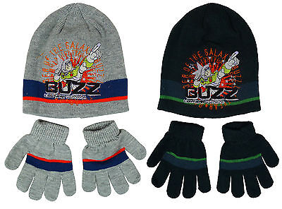 Boys Toy Story Buzz Lightyear Knit Beanie Hat & Gloves 7-12 Years CLEARANCE SALE