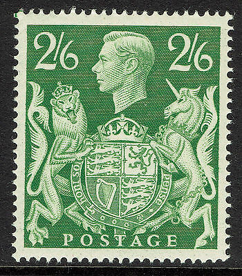 GB KGVI SG476b - 2s6d GREEN - 1939 HIGH VALUE - UNMOUNTED MINT MNH - Sc #249a