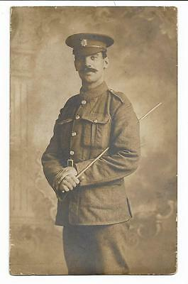 WW1 Soldier ASC ? Military Post Card