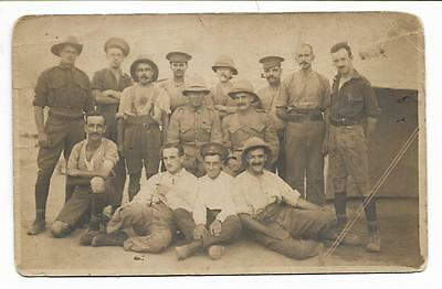 WW1 Military Group Tropical Helmets at Camp