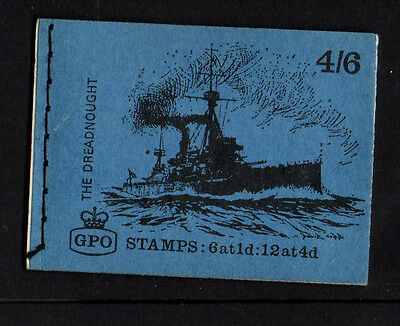Gb 1969 July - 4/6 Stamp Booklet Stitched - Ship Series - Lp50 The Dreadnought