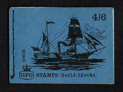Gb 1969 March - 4/6 Stamp Booklet Stitched - Ship Series - Lp50 Sirius - Mnh