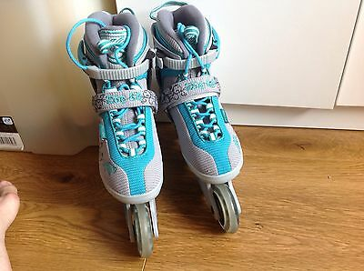 K2 Womens Inline Skates Grey/ Green Size 4.5