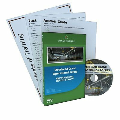 Convergence C-423 Overhead Crane Operational Safety Training Program Dvd, 16 Mi