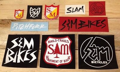 S&M Sticker Set S And M Mid School Assorted BMX Stickers Pack 1
