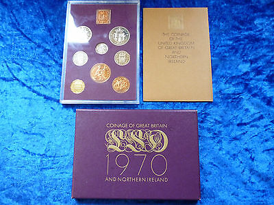 1970 Coinage of Great Britain Proof Set Last £SD Coins