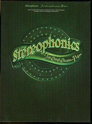 Stereophonics: Just Enough Education to Perform. piano, voice and guitar