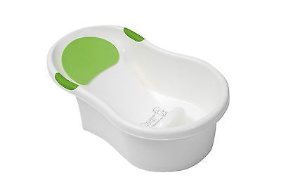 Tippitoes Mini Bath *WHITE & GREEN* Suitable From Birth, NEW