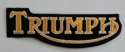 Triumph Motorcycles Small Black And Gold Patch