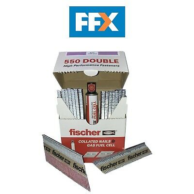 Fischer 540483 1100pk 3.1x90 Smooth 3.1x63 Ring Galv Nail and Fuel