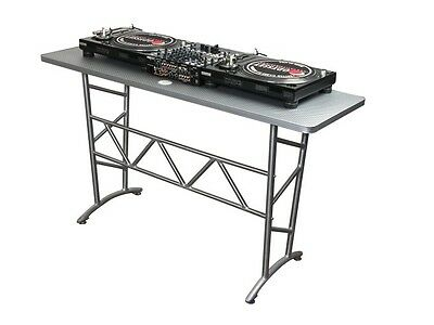 Odyssey ATT Pro DJ Aluminum Truss Table Turntable Stand, 200 Pound Capacity