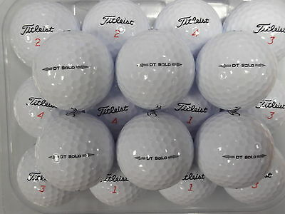 50 Titleist Dt Solo 2014 Model Golf Lake Balls  Pearl/ Grade A ~ Free Delivery