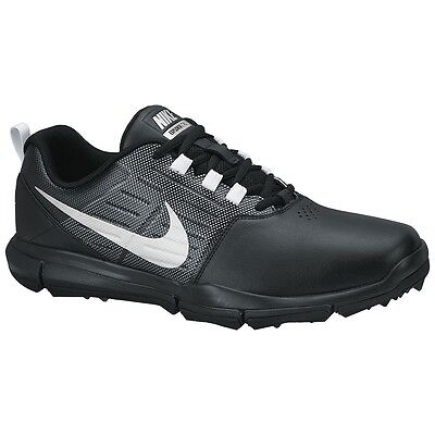 Nike Golf Explorer Leather Mens Golf Shoes Waterproof Spikeless Black NEW