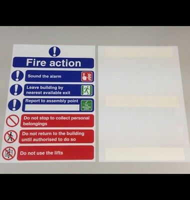 Fire Action Safety Sign 210mm x 297mm