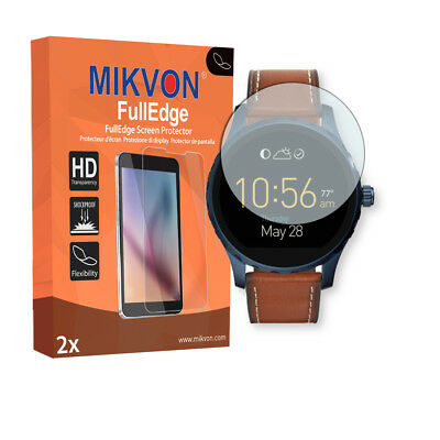 2x Mikvon FullEdge screen protector for Fossil Q Marshal foil
