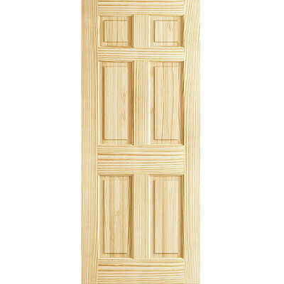 6-Panel Door Kimberly Bay Solid Wood Interior Slab with double hip panels