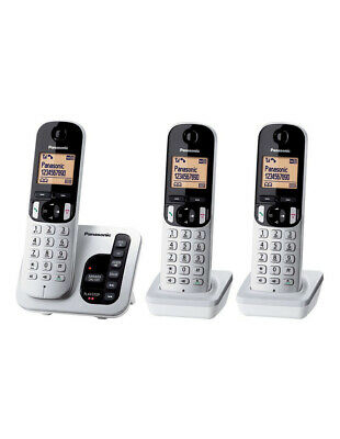 NEW KX-TGC223ALS DECT Cordless Phone with Answering Machine Triple Pack