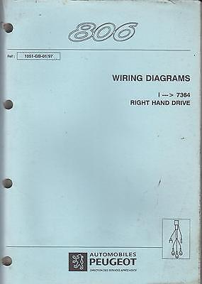 Peugeot 806 Petrol & Diesel Original 1997 Rhd Factory Wiring Diagrams Manual