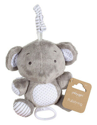 NEW Playgro Musical Pullstring Grey