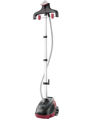 NEW Tefal IT6540 Precison Steam Garment Steamer: Black/Red